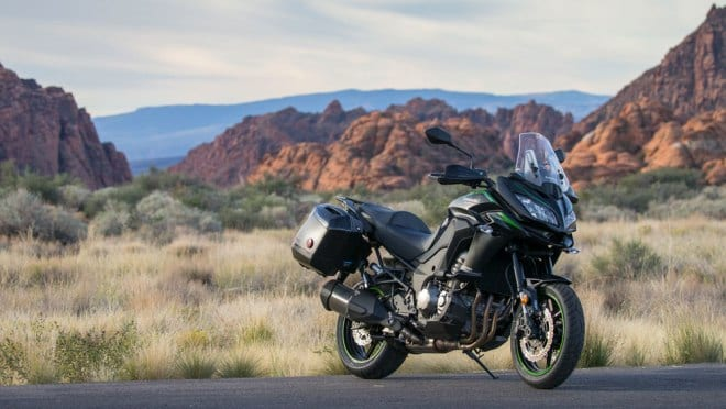 Kawasaki Versys 1000 in Snow Canyon