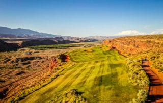 Arial View of Sand Hollow Resort Golf Course